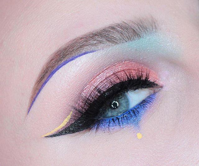 WEBSTA @ beccaboo318 - Closeup of my eye from last post  i used: @nyxcosmetics Ash Brown Micro Brow pencil. Vivid Halo
