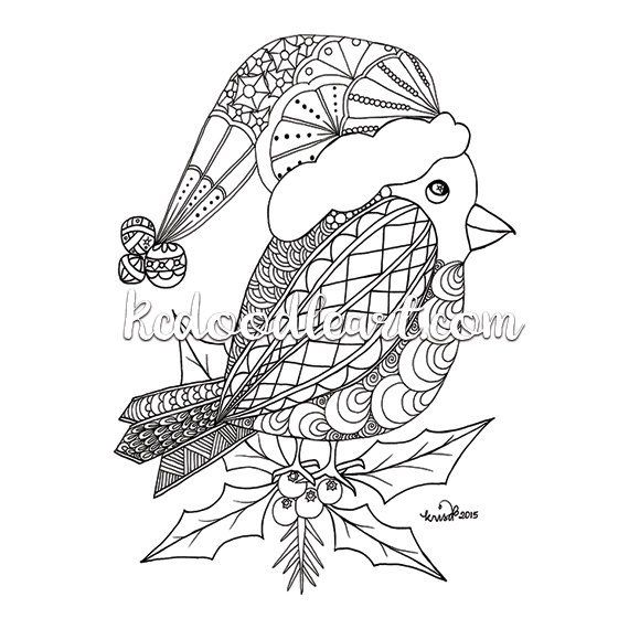 Instant Digital Download - Coloring Page - Christmas ...