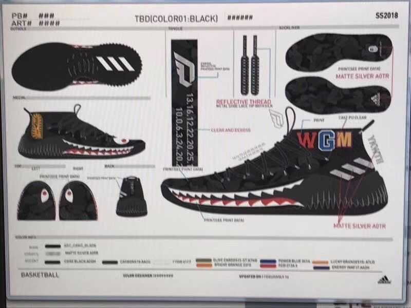 deb28973a53cb Damiam Lillard's adidas Dame 4 will be teaming up with A Bathing Ape for an  upcoming BAPE adidas Dame 4 collaboration. The pack is made up of two adidas  ...