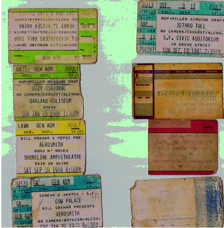 Vintage concert ticket stubs — img 13