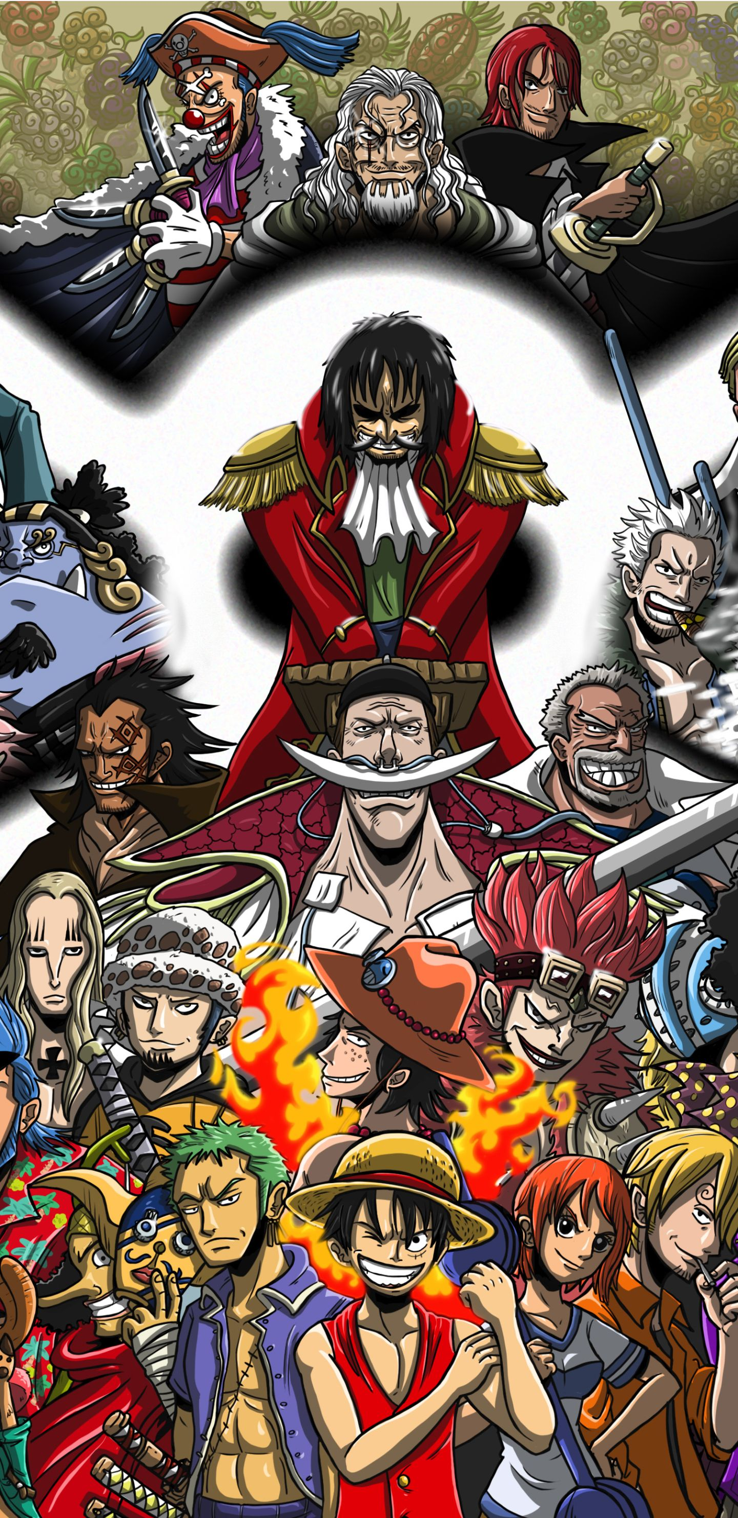 One Piece Gold D Roger Wallpaper Latar Belakang Seni Abstrak