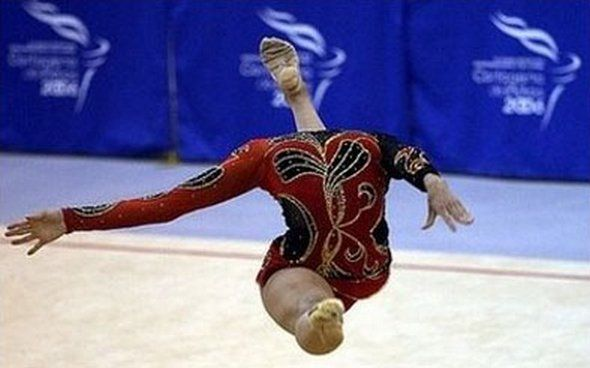 timed photo perfectly ass Gymnastic of