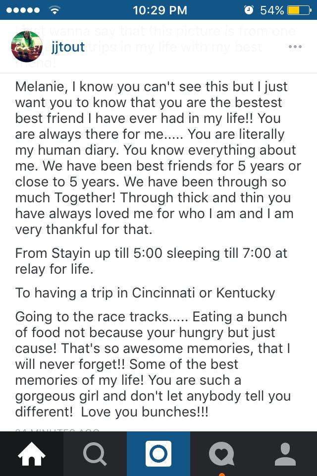 best friend appreciation post