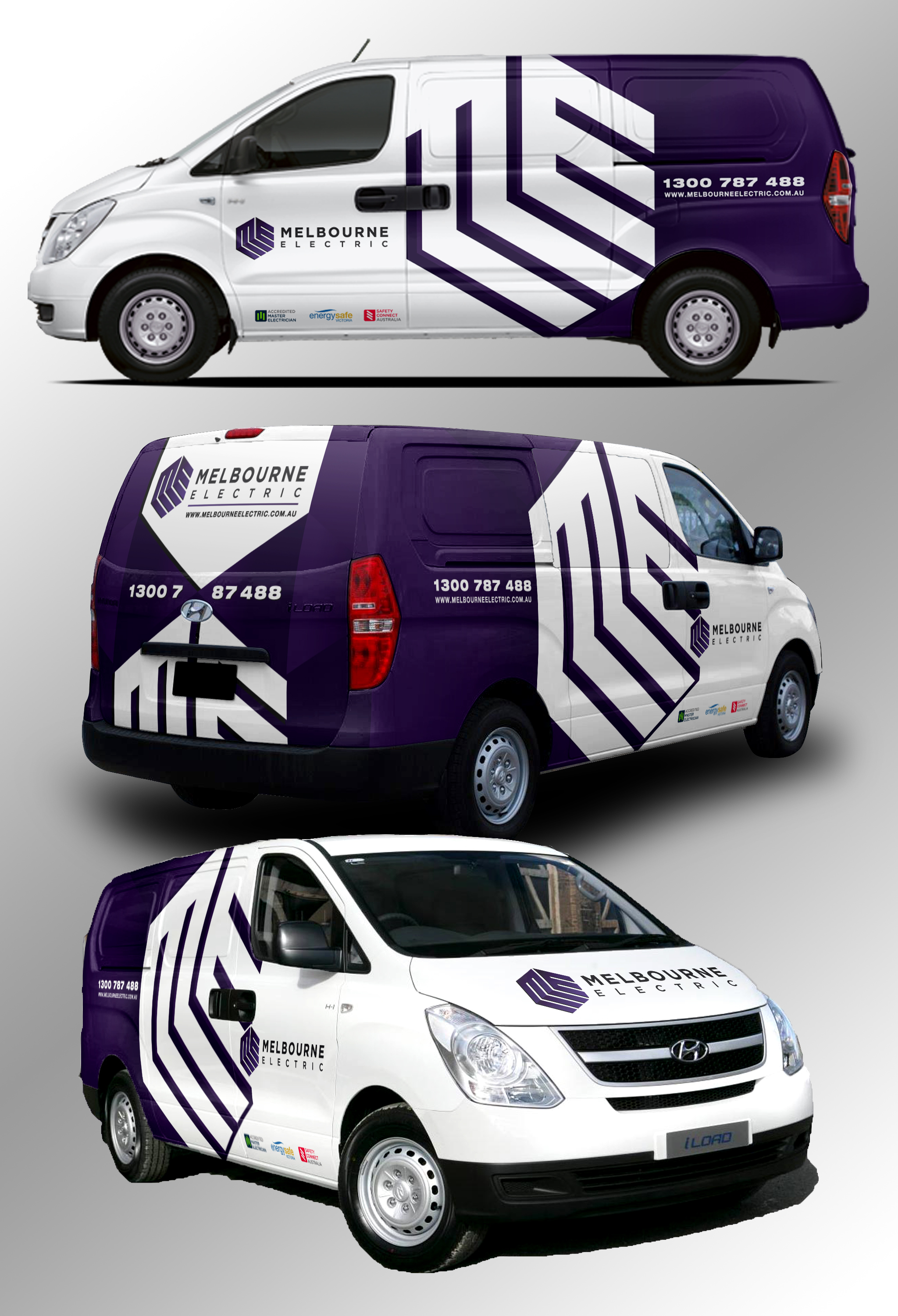 Createeyepoppingvandesignreputableelectricalcompany - Modern business vehicle decals