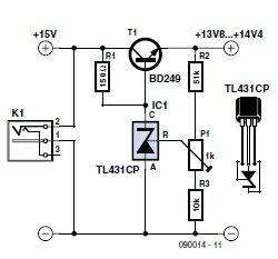 Low-Drop Series Regulator Using a TL431 (EE Tip #134
