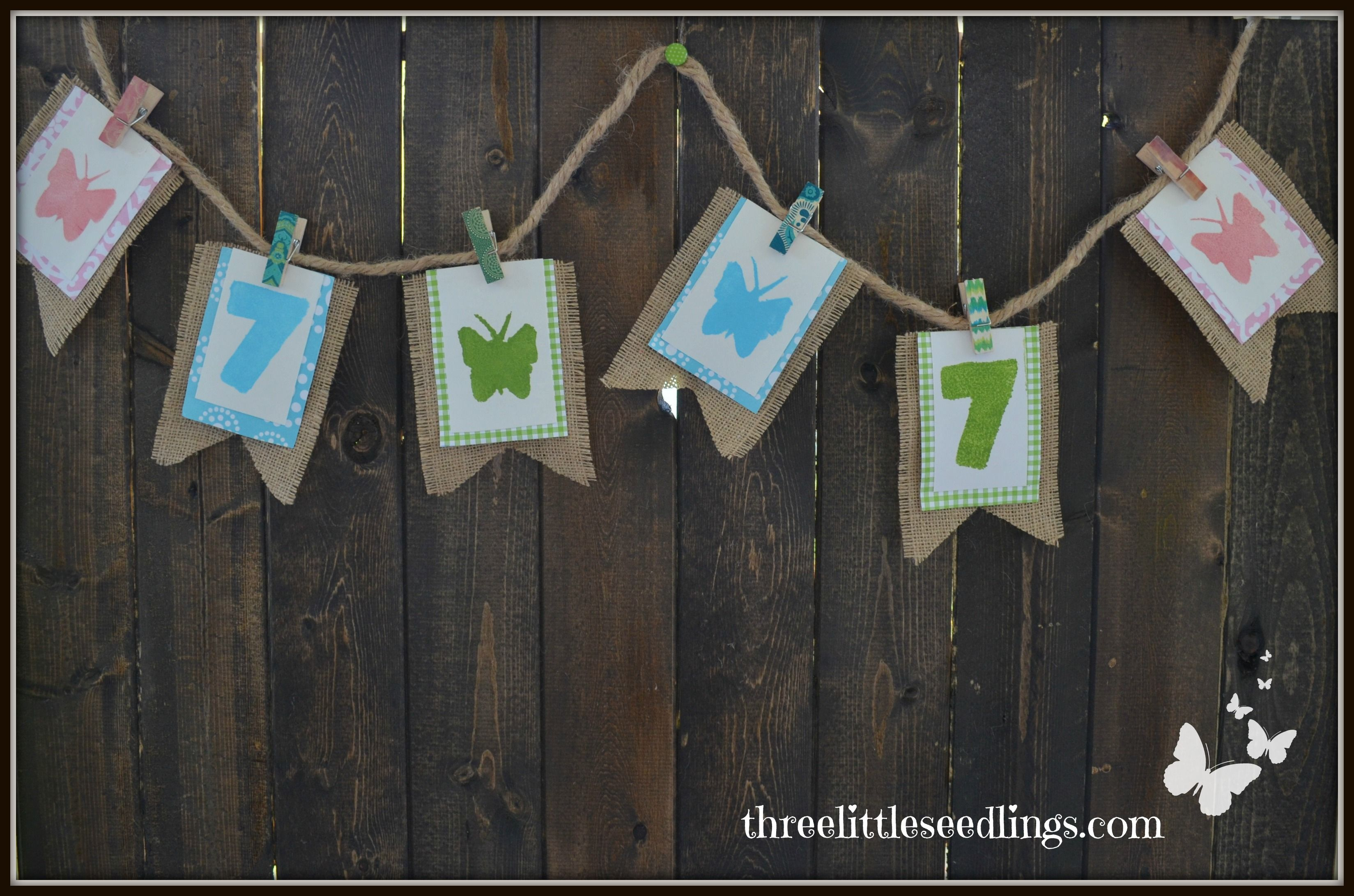 Diy birthday banner three little seedlings www diy birthday solutioingenieria Images