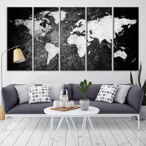 17678 large wall art world map canvas print watercolor world map 17678 large wall art world map canvas print watercolor world map travel canvas print gumiabroncs Image collections