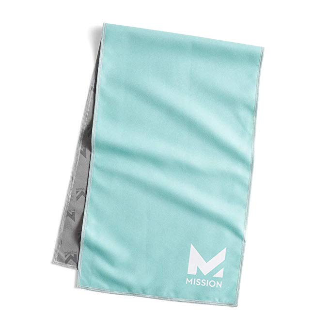 MISSION Original Cooling Towel, Aqua Sky, One