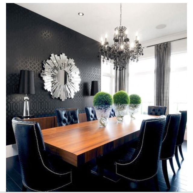 Yes Yes  Comedores  Pinterest  Dining Area Decoration And Entrancing Charcoal Dining Room Inspiration
