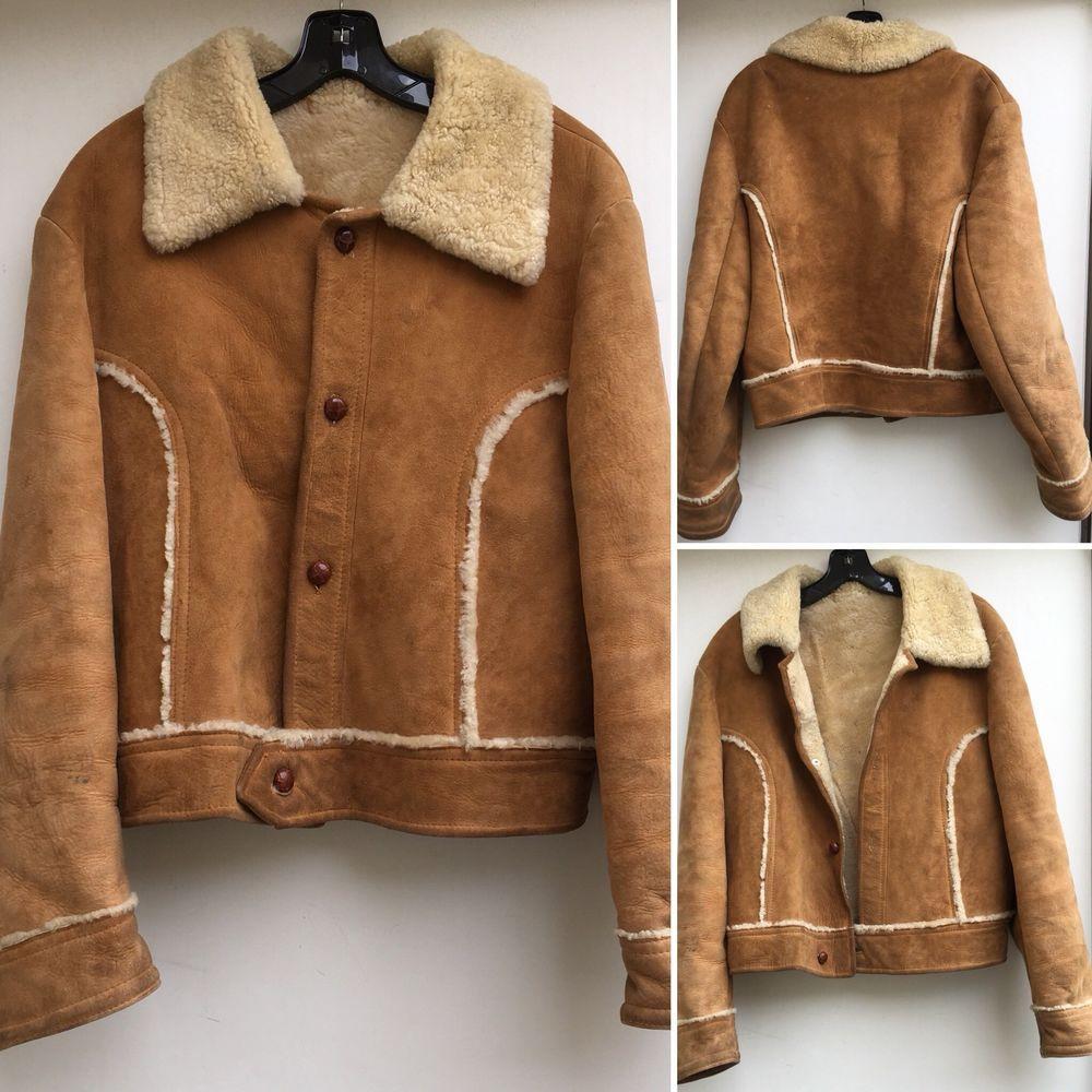 Vintage Trucker Suede Leather Western Sherpa Jacket Coat Rancher Ebay Sherpa Jacket Coat Vintage Coat [ 1000 x 1000 Pixel ]