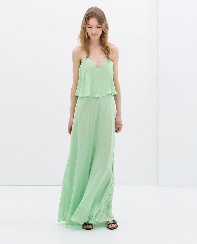 Vestido verde zara 2014