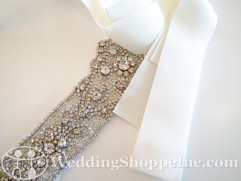 For the bridesmaids dresses   Bridal Belts and Sashes Augusta Jones N51A Bridal Belts and Sashes Image 1