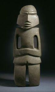 Photograph; Mezcala figure Circa. Unknown Location; Guerrero, Mexico Culture; Balsas culture Materials; Stone COPYRIGHT ©