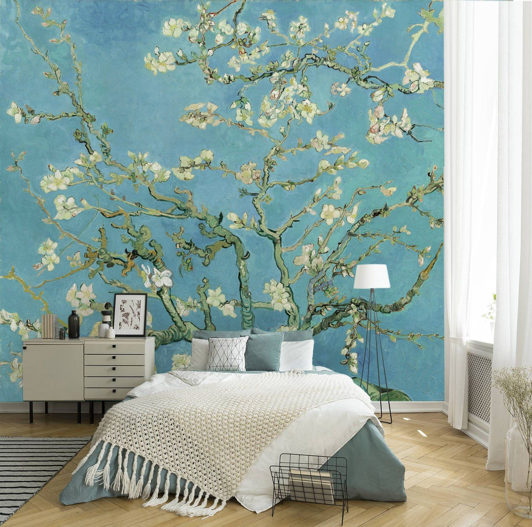 Almond blossom by Van Gogh wallpaper, peel and stick