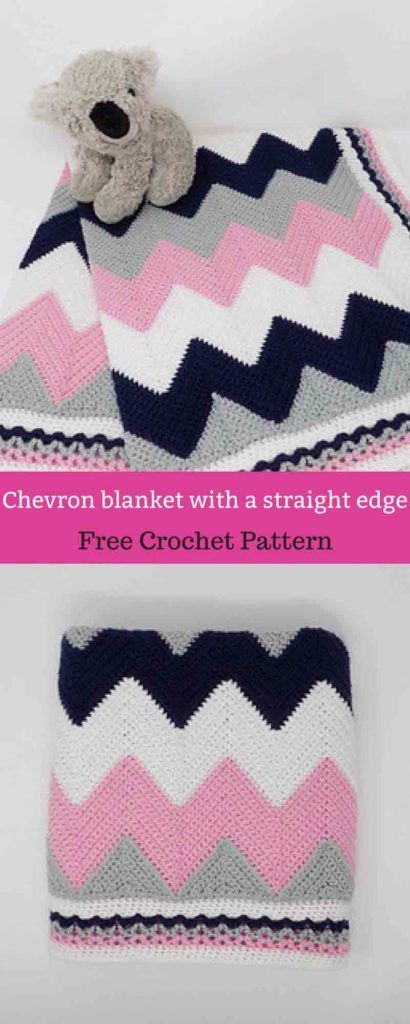 chevron blanket with a straight edge [ Free Crochet Pattern | soon ...