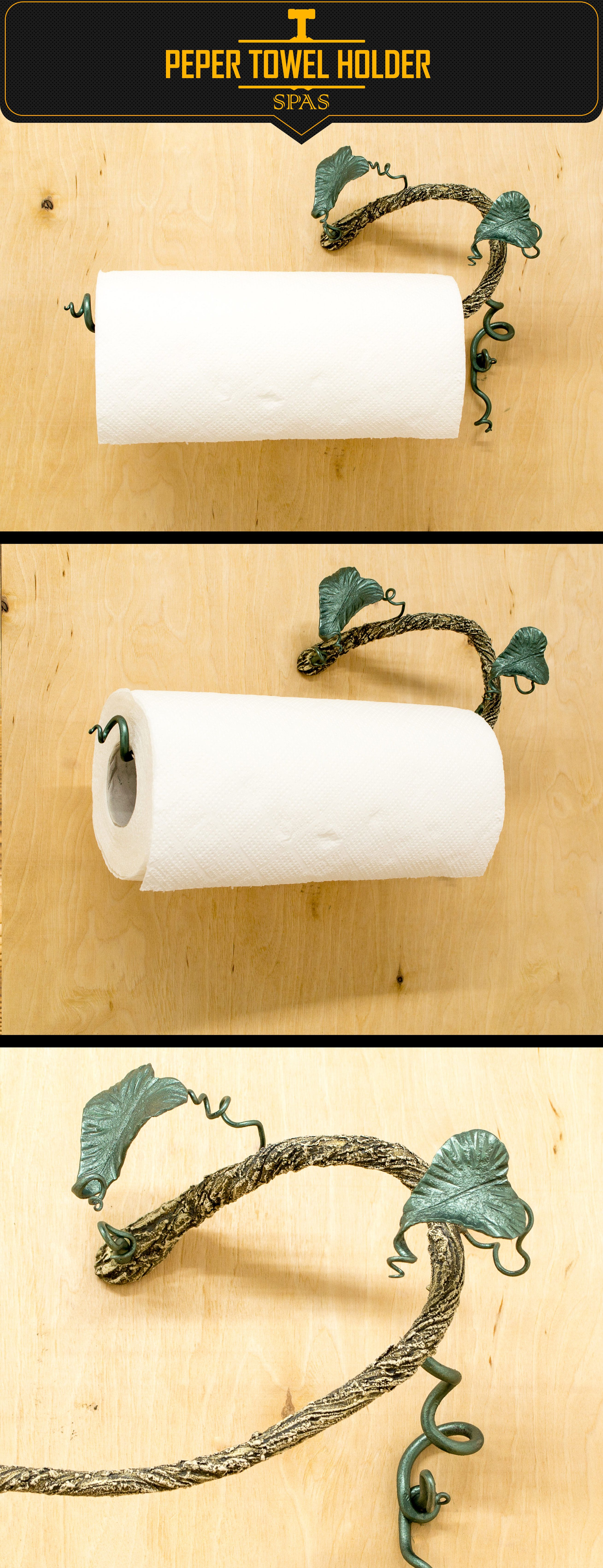 Paper towel holder, wall paper towel, wall tropical plant, towel ...