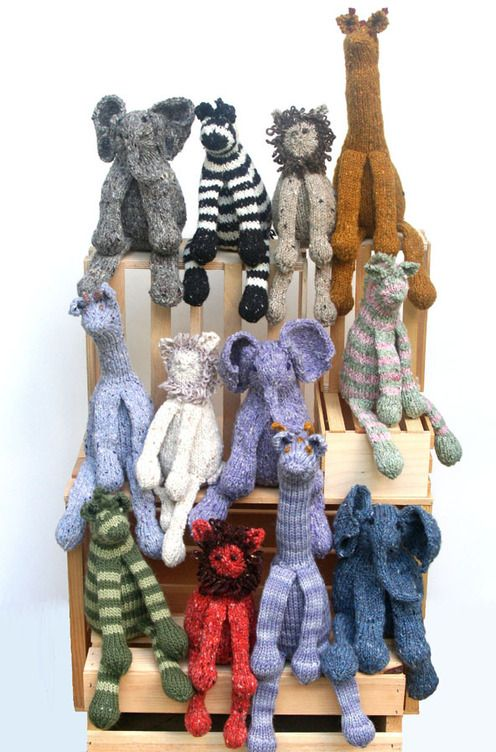 Knitting at KNoon--Chris de Longpre--Safari Friends | Knitting ...