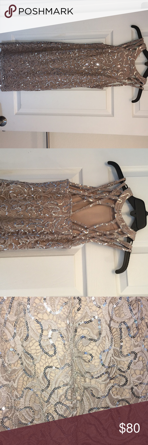 Dillard's dress Only worn one time, bought this for a wedding. Dresses