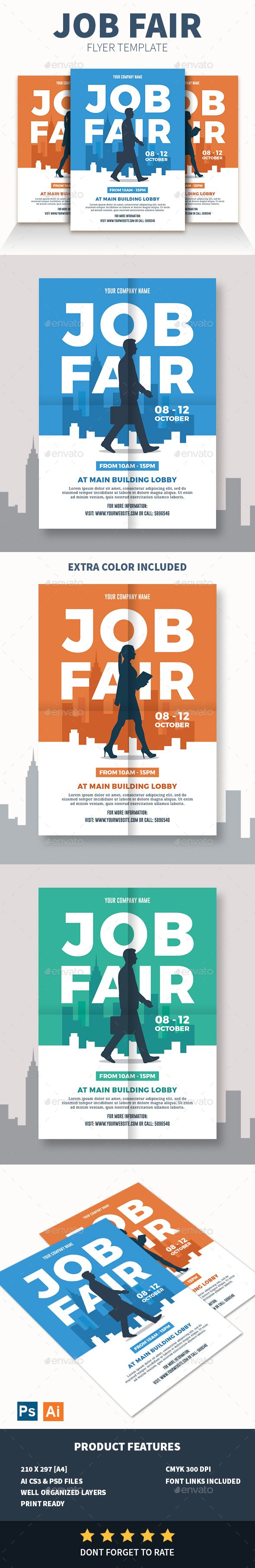 Job fair flyer pinterest job fair flyer template and template maxwellsz