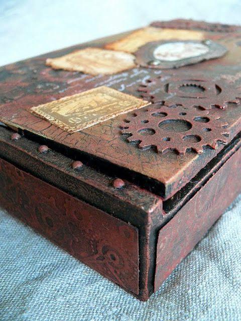 Cigar box crafts ideas von pappe ii altered cigar box for Cigar boxes for crafts