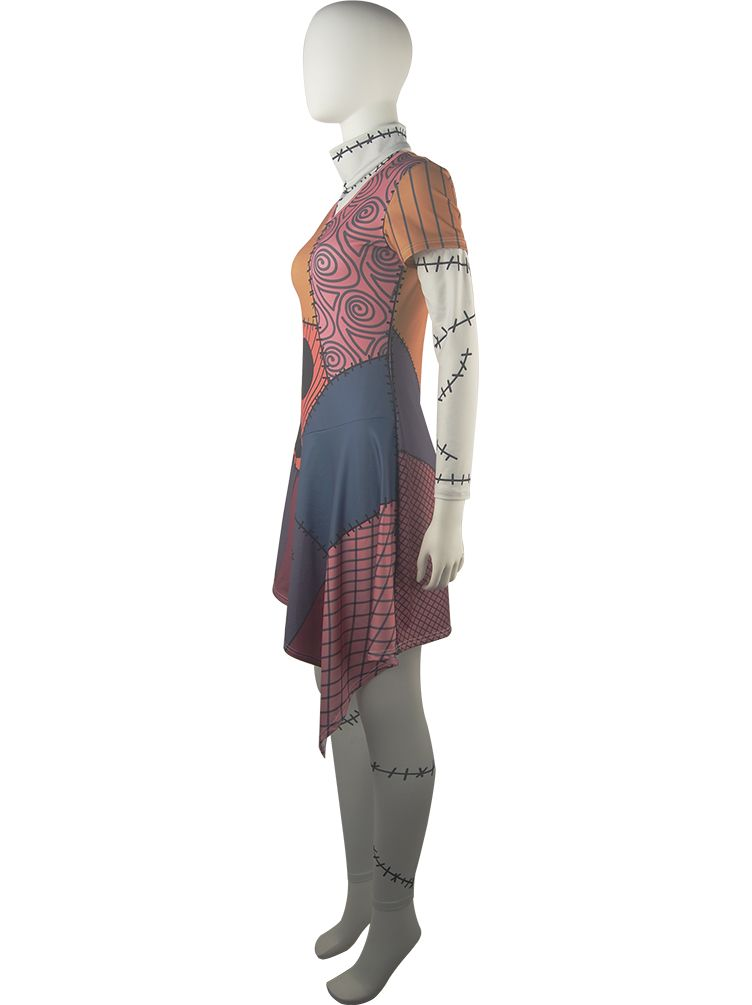 The Nightmare Before Christmas Sally Deluxe Summer Dress Halloween  Comic-con Cosplay Costume Daily Wear