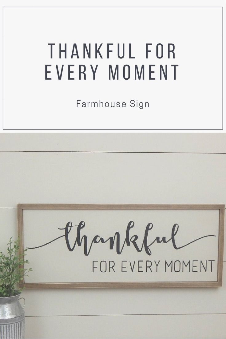 Thankful Sign, Wood Thankful Sign, Farmhouse Style Sign, Wood Framed ...