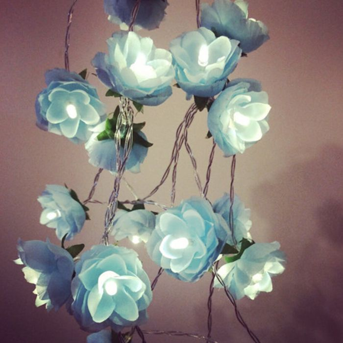 4m 40 Silk Flower LED String Light-9.84 and Free Shipping