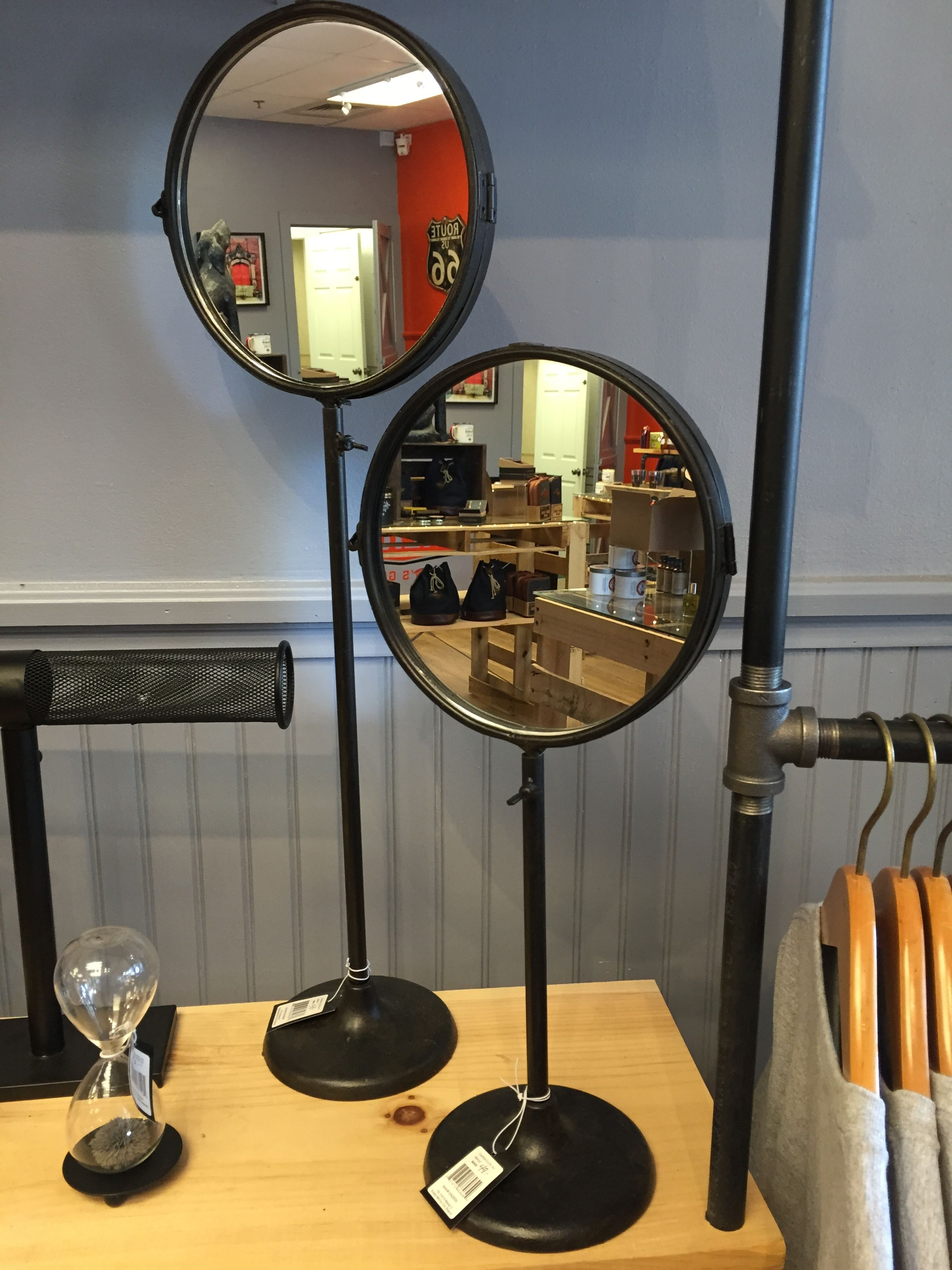 Place A Standing Mirror On Desk Or Dresser To See Reflection Of Door