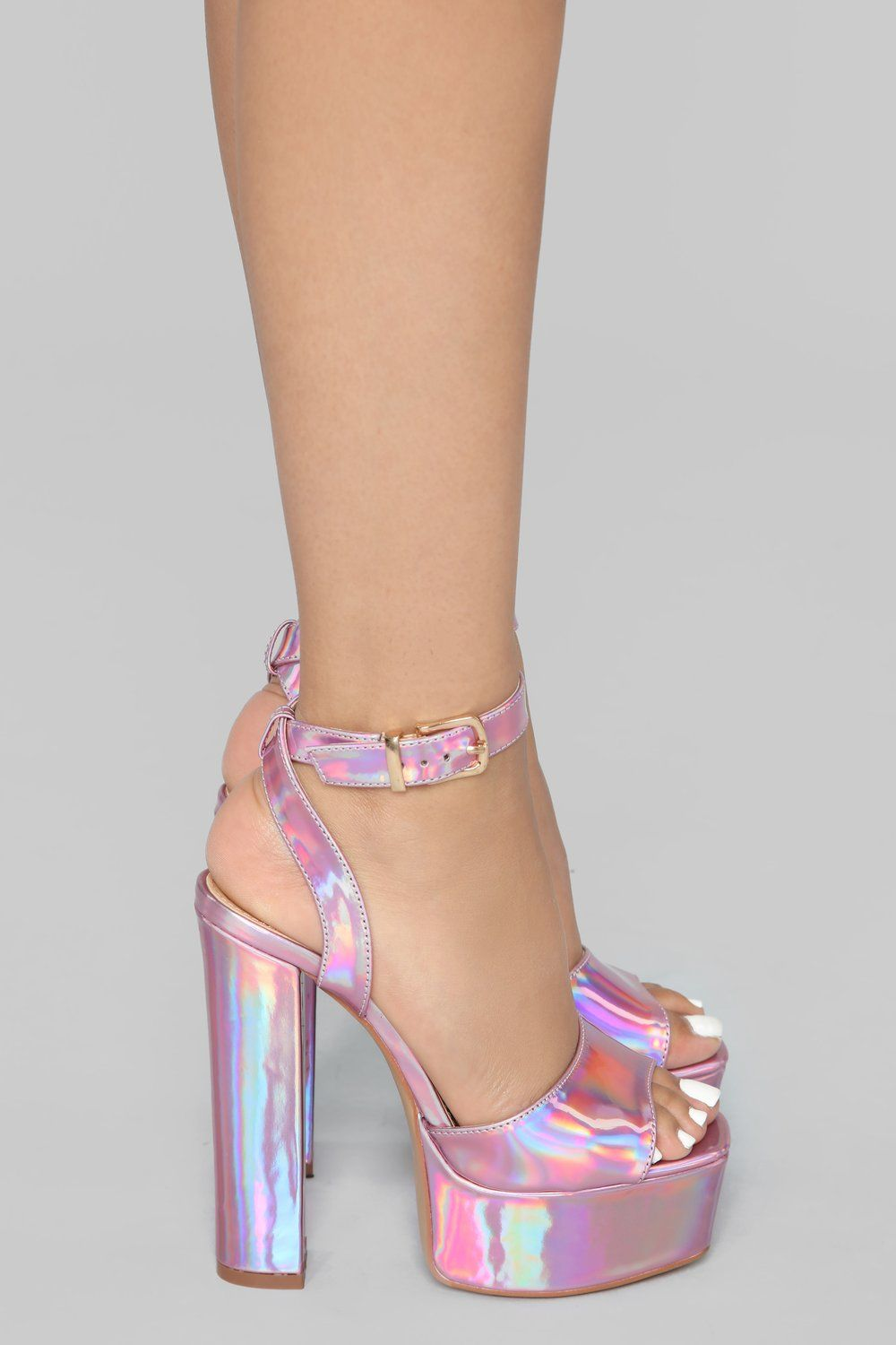 797aa4d510a I Know I Can Heel - Pink Iridescent in 2019 | Shoes | Pink heels ...