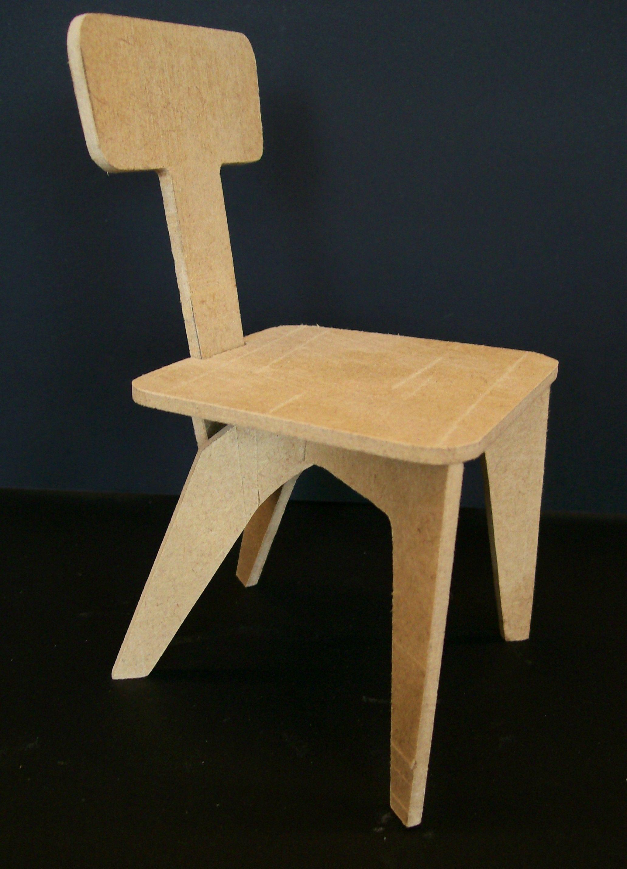 Cadeira Oswaldo Bratke (MDF) | monta desmonta | Pinterest
