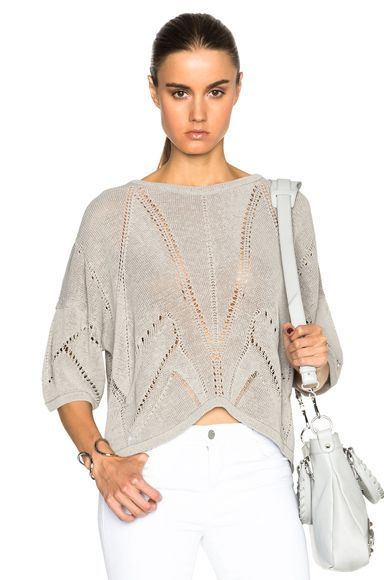 Fractured Lace Short Sleeve Sweater