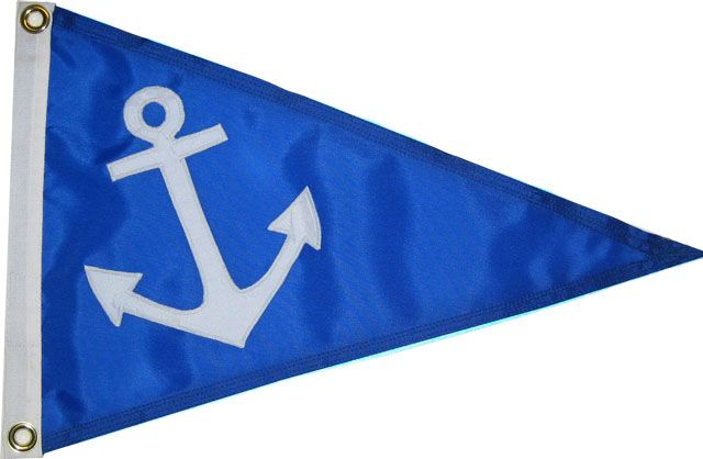 Anchor Pennant Various Sizes Colors Boat Flags Dog Flag Pennant