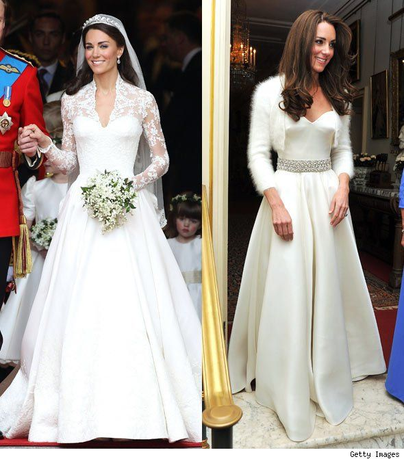 Kate Middletons Two Wedding Dresses One For The Ceremony And The