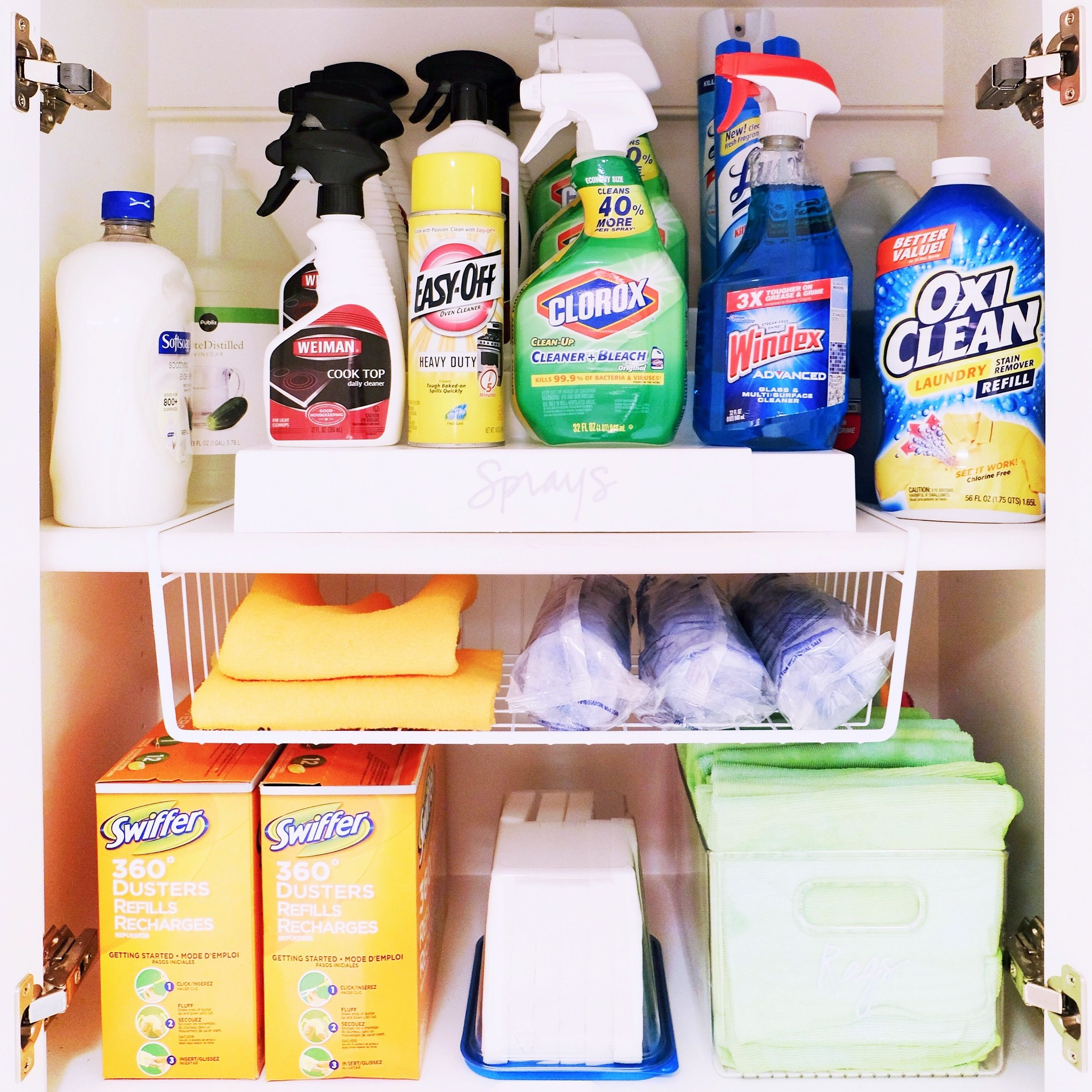 Organized cleaning supplies in 2019 | Cleaning cupboard ...