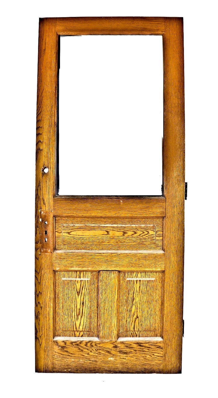 Original C 1885 Salvaged Chicago Solid Golden Oak Exterior Salvaged