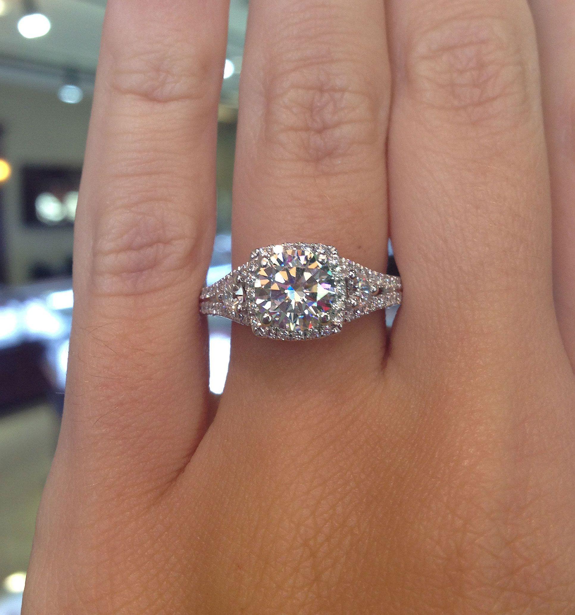 Verragio INS 7068CU GLD 1 00 ctw Insignia Engagement Ring Mounting