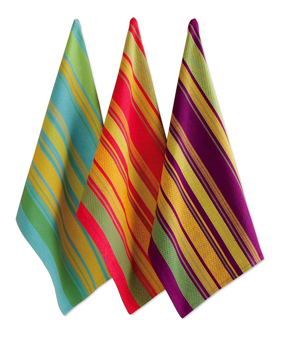 Take A Look At This Jardin Stripe Dish Towel Set Of