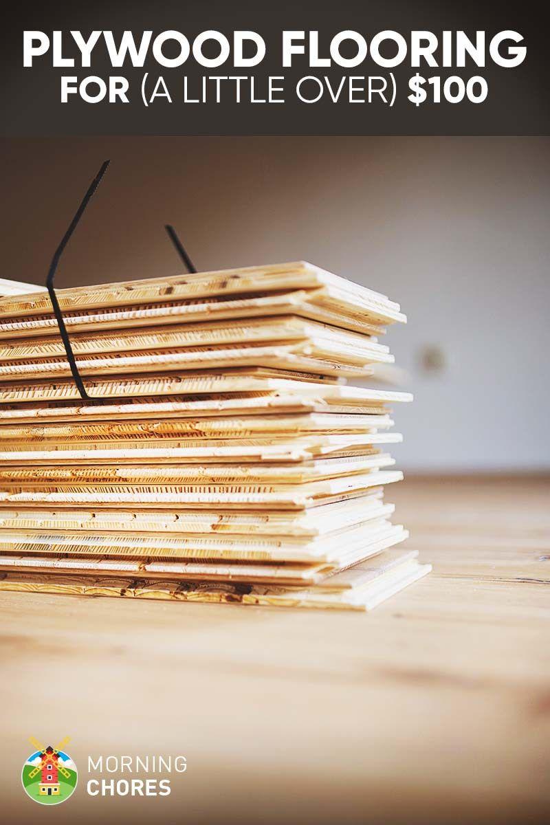 Diy cheap farmhouse plywood flooring for a little over
