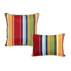 Outdoor Pillow Collection Bright Stripe Bed Bath Beyond