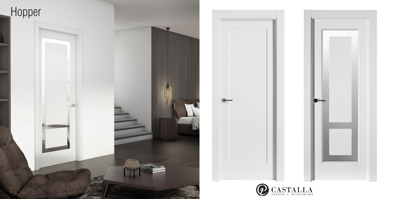 Modelo Hopper Puertas Con Cristal Puertas Blancas Puertas De  ~ Cristales Para Puertas De Salon