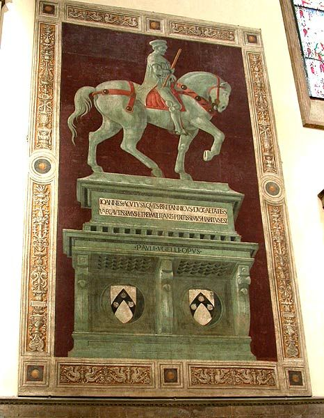 Paolo Uccello - Condottiere Sir John Hawkwood, Florence Duomo