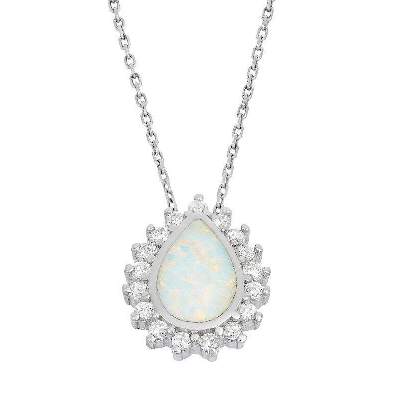 DiamondJewelryNY Sterling Silver Teardrop Turquoise Pendant