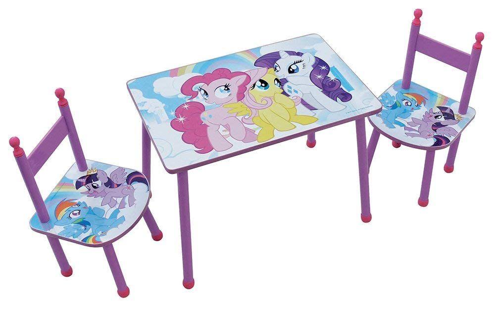 My Little Pony Set Tisch Mit Zwei Stuhlen Fur Kinder Mdf Rosa 60 X 40 X 44 Cm Diese Rechteckigen Tisch Mit Seinen Zwei Custom Toys Kids Bedroom My Little Pony