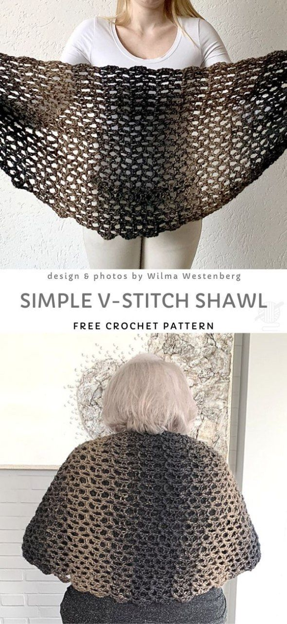 Delicate and Elegant Ombre Crochet Shawls