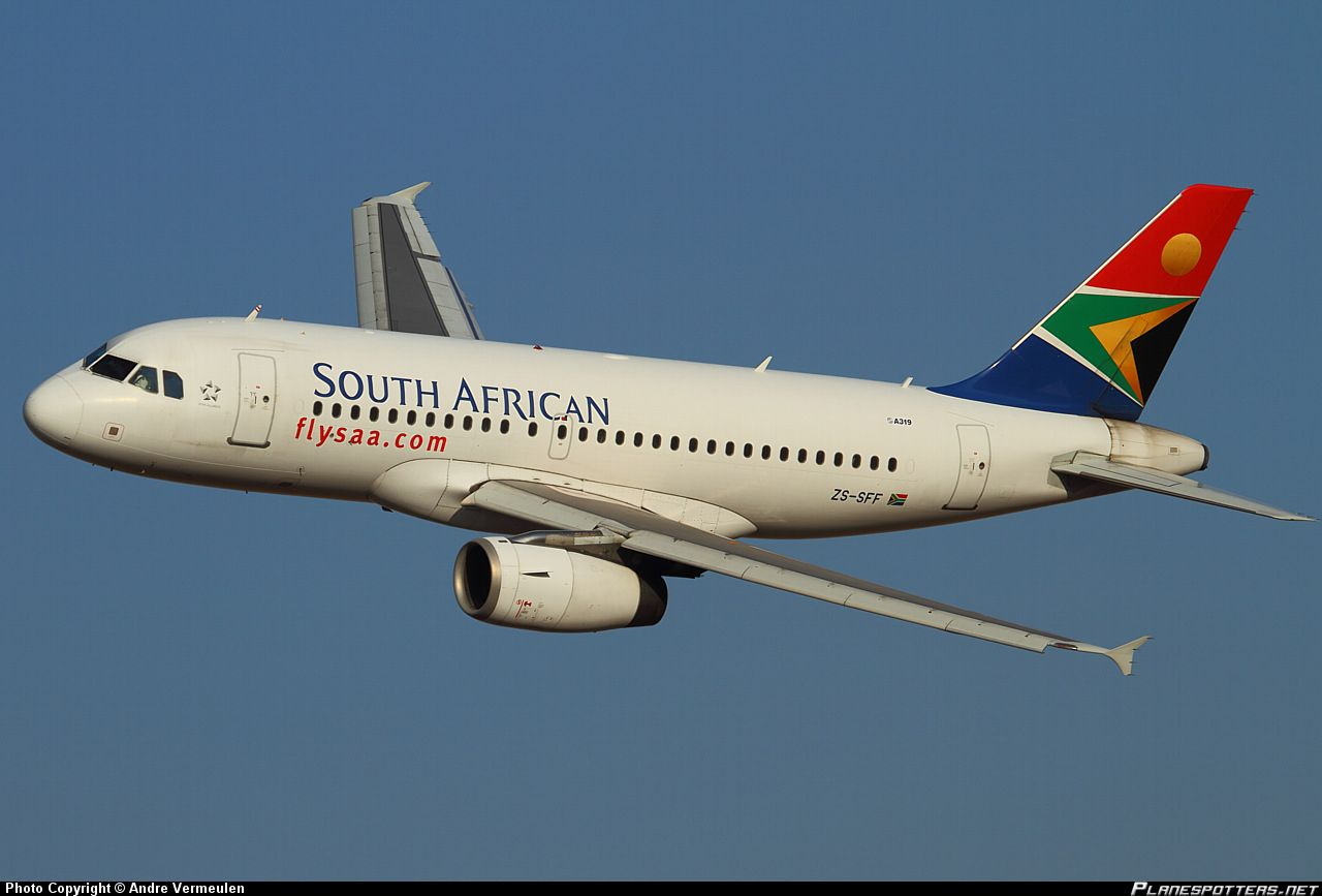 Any plane spotters around here? South african airlines