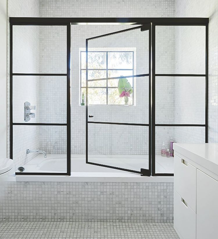 These Steel Framed Windows And Door Give This Shower A Luxe