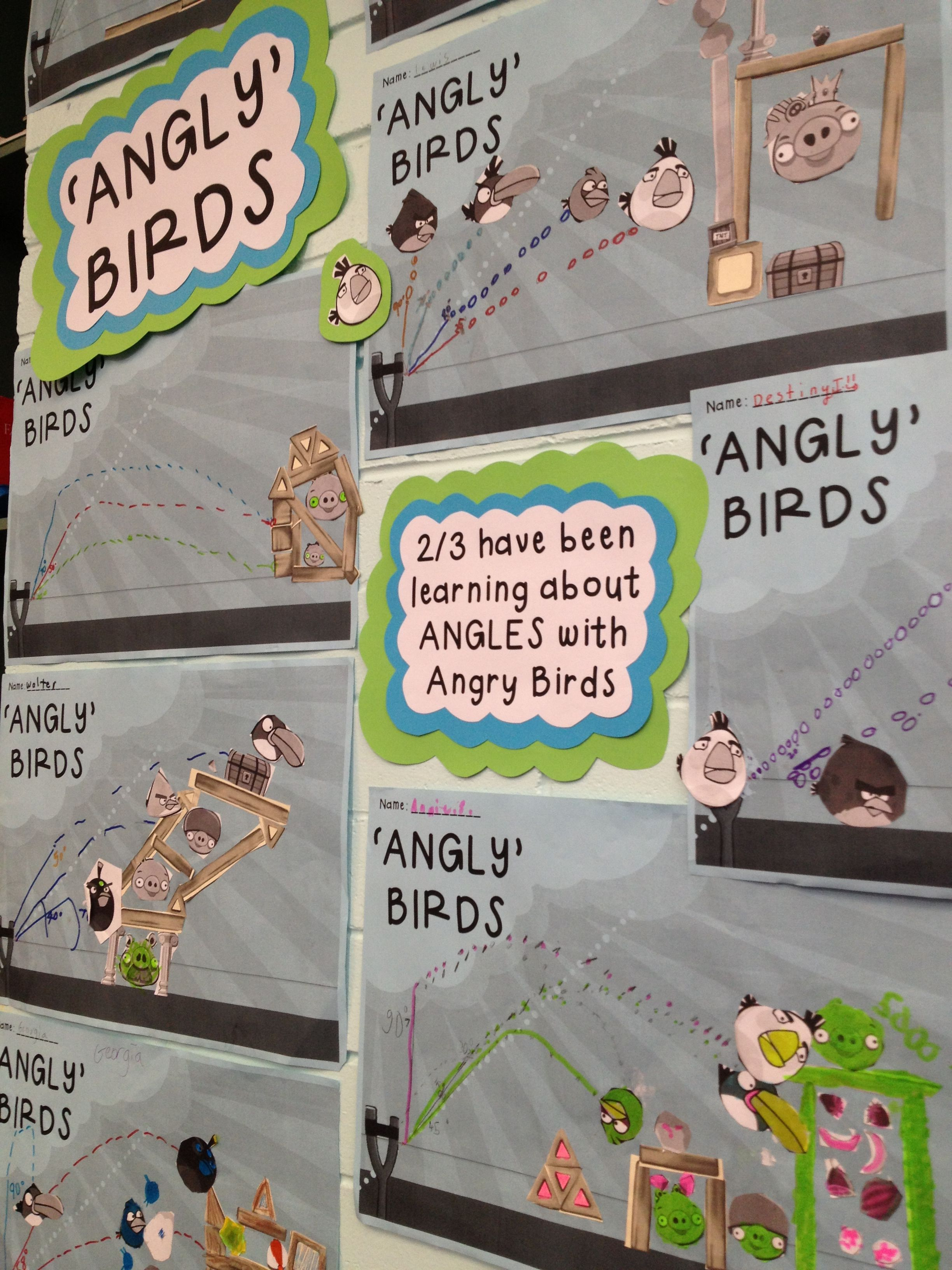 Teaching Kids About Angles Using Angry Birds We Called It