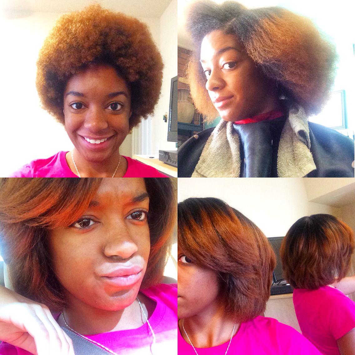 Natural Hair Colored Natural Hair 4c Hair 4b Hair Straight