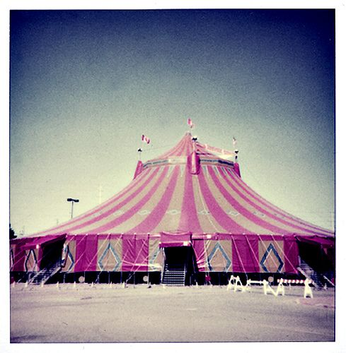 pink striped tent & shrine circus | Tents Carnival and Big top