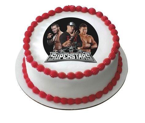 14 Sheet WWE Superstars Wresting Birthday Edible Image Cake